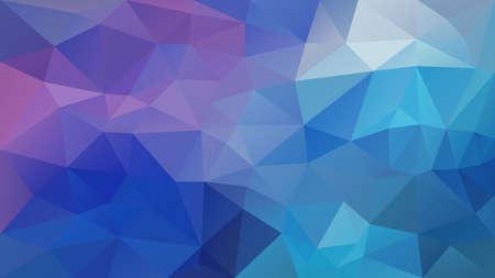 Vektor abstrakter unregelmäßiger Polygonhintergrund - Dreieck Low-Poly-Muster - Pastellblau-violett-violette Farbe