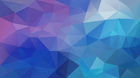 wektor abstrakcyjne nieregularne tło wielokąta - trójkątny wzór low poly - pastelowy niebieski fioletowy fioletowy kolor