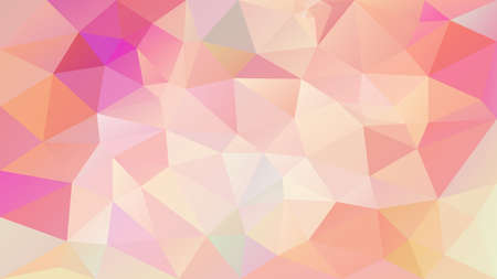 vector abstract irregular polygon background - triangle low poly pattern - salmon pink peach orange cute color