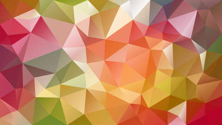 vector abstract irregular polygon background - triangle low poly pattern - spring orange green yellow red color spectrum