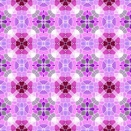mosaic kaleidoscope jewel seamless pattern texture background - cute pink purple fuchsia violet burgundy red mauve gray colored with white grout