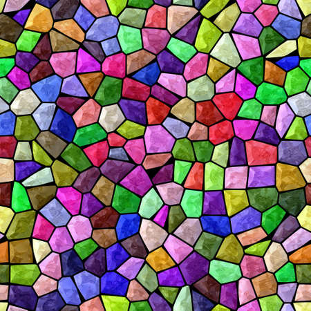 surface floor marble mosaic pattern seamless background with black grout - vibrant neon full color rainbow spectrum