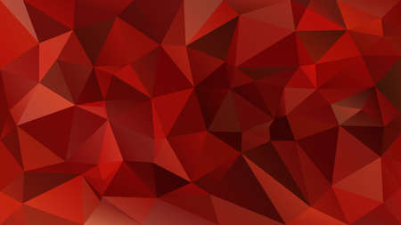 vector abstract irregular polygon background - triangle low poly pattern - strawberry red color