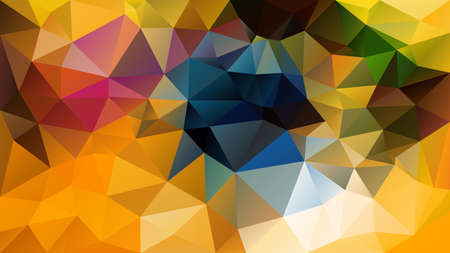 vector abstract irregular polygon background - triangle low poly pattern - gold sunny yellow orange and petroleum blue color Illusztráció
