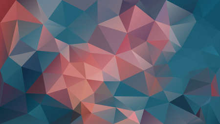 vector abstract irregular polygon background - triangle low poly pattern - teal blue and coral pink orange color Stockfoto - 128376121