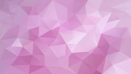 vector abstract irregular polygon background - triangle low poly pattern - cute baby pink color