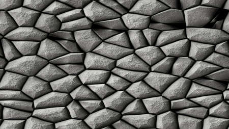cobble stones irregular mosaic pattern texture seamless background - pavement grey natural colored pieces