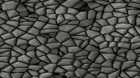 cobble stones irregular mosaic pattern texture seamless background - pavement dark slate grey natural colored pieces