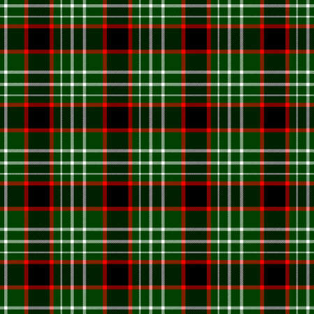 checked diamond tartan plaid scotch kilt fabric seamless pattern texture background - color dark green, red and white