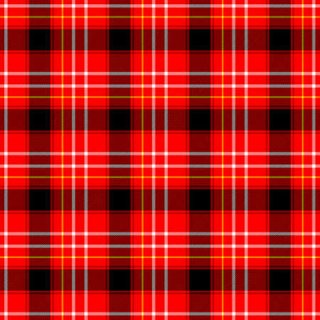 checked diamond tartan plaid scotch kilt fabric seamless pattern texture background - color red, yellow, black and white