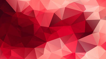 vector abstract irregular polygon background - triangle low poly pattern - red pink garnet color