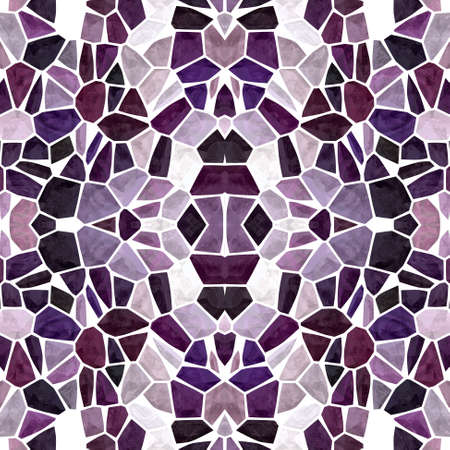 mosaic kaleidoscope jewel seamless pattern texture background - dark purple, lavender violet, mauve, old pink, burgundy red colored with white grout
