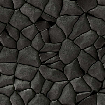 cobble stones irregular mosaic pattern texture seamless background - pavement dark grey natural colored