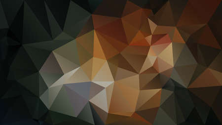 vector abstract irregular polygon background - triangle low poly pattern - black, dark brown, ochre, green, khaki, cinamon, tawny, gingerbread, peanut, mocha, caramel  color  イラスト・ベクター素材