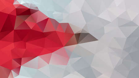 vector abstract irregular polygon background - triangle low poly pattern - bloody red and warm grey cloud color