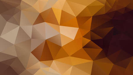 vector abstract irregular polygon background - triangle low poly pattern - brown, ochre, beige, caramel, tawny, cinnamon, peanut, coffee, mocha, honey, merigold color