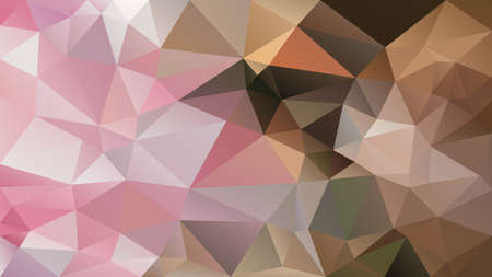 vector abstract irregular polygon background - triangle low poly pattern - old pink, mauve, beige and brown color  Stock Illustratie