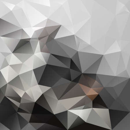 vector abstract irregular polygon square background - triangle low poly pattern - grey, gray, black, brown, slate, smoke color