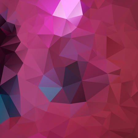 vector abstract irregular polygon square background - triangle low poly pattern - hot pink, magenta, fuscia, punch, blush, wine, burgundy red and blue color