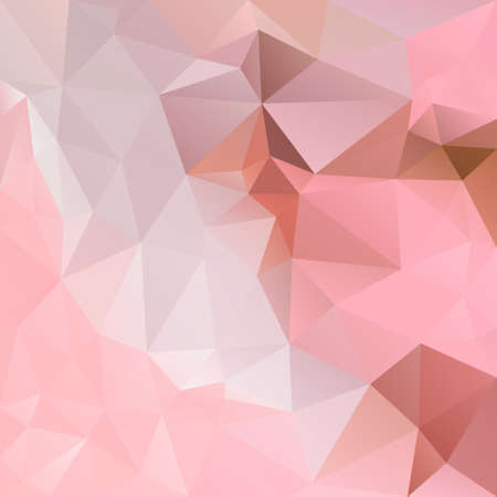 vector abstract irregular polygon square background - triangle low poly pattern - sweet cute pink, rose, blush, flamingo, rouge, salmon, coral, peach, rosewood, brown color