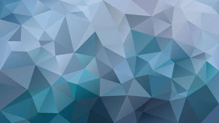 vector abstract irregular polygon background - triangle low poly pattern - teal ocean blue and slate gray color