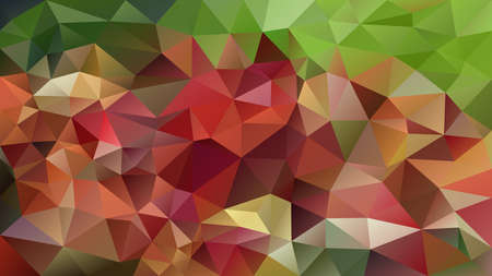 vector abstract irregular polygon background - triangle low poly pattern - autumn fall green red color