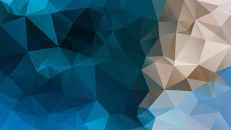 vector abstract irregular polygon background - triangle low poly pattern - indigo blue beige color
