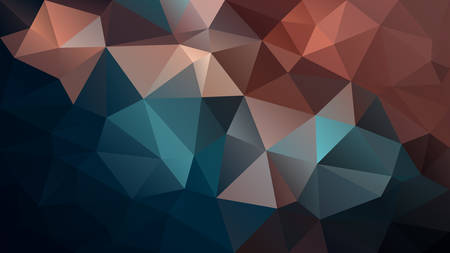 vector abstract irregular polygon background - triangle low poly pattern - night black dark indigo blue brown color