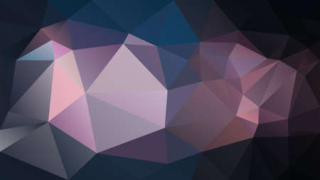 vector abstract irregular polygon background - triangle low poly pattern - dark night black purple violet mauve pink color