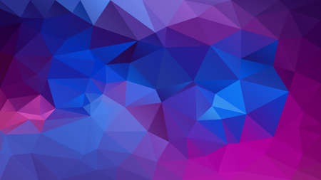 vector abstract irregular polygon background - triangle low poly pattern - vibrant royal blue purple violet fuchsia hot pink magenta color