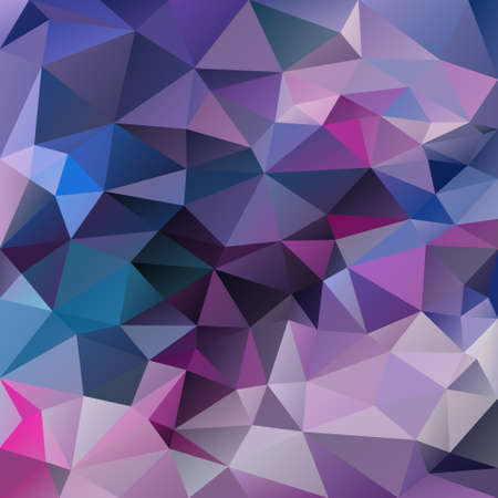 vector abstract irregular polygon square background - triangle low poly pattern - color purple violet blue hot pink magenta Иллюстрация