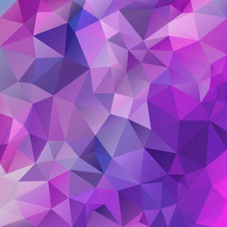 Vektor abstrakter unregelmäßiger Polygon-Quadrat-Hintergrund - Dreieck Low-Poly-Muster - Farbe Lila Violett Fuchsia Pink Magenta