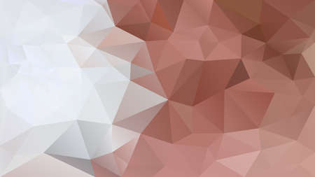vector abstract irregular polygon background - triangle low poly pattern - color gray blush brown