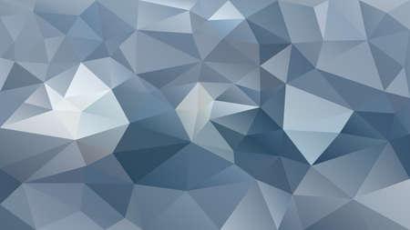 Vector de fondo abstracto polígono irregular - triángulo patrón de baja poli - color pizarra gris azul plata