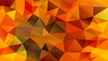 vector abstract irregular polygon background - triangle low poly pattern - color fiery red orange brown khaki yellow