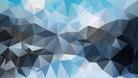 vector abstract irregular polygon background - triangle low poly pattern - cold blue and gray color spectrum - sky slate navy indigo cerulean stone aegean sapphire arctic
