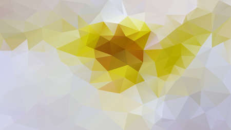 vector abstract irregular polygon background - triangle low poly pattern - color yellow ochre grey white