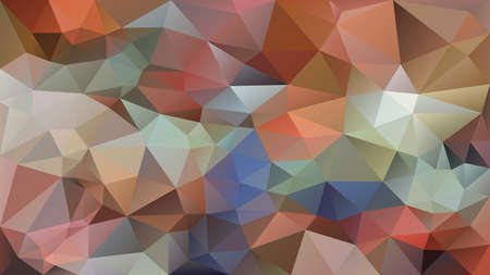 vector abstract irregular polygon background - triangle low poly pattern - color beige orange blue green purple mauve pink multicolored
