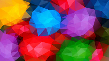 vector abstract irregular polygon background - triangle low poly pattern - full spectrum multi color rainbow vibrant neon red green blue purple