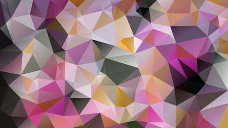 vector abstract irregular polygon background - triangle low poly pattern - multi color pink grey purple