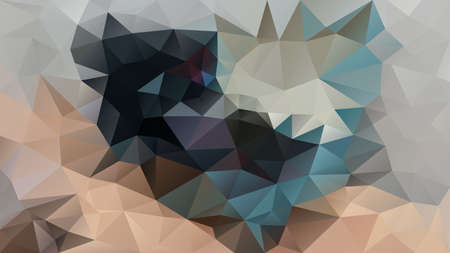 vector abstract irregular polygon background - triangle low poly pattern - color black sand beige grey petroleum blue
