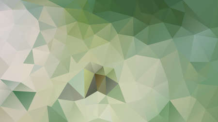 vector abstract irregular polygon background - triangle low poly pattern - color natural light green and beige