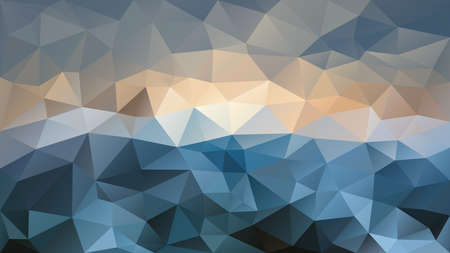 vector abstract irregular polygon background - triangle low poly pattern - color aegean petrol blue beige tan grey