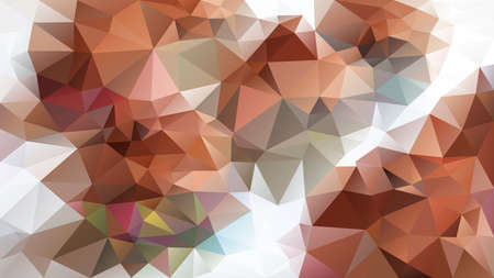 vector abstract irregular polygon background - triangle low poly pattern - color cinnamon brown beige brick ginger grey white Stock Illustratie