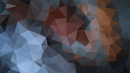 vector abstract irregular polygon background - triangle low poly pattern - color dark petrol aegean blue slate charcoal black beige brown grey Stock Illustratie