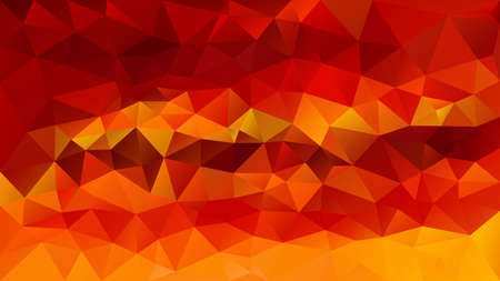 vector abstract irregular polygon background - triangle low poly pattern - color vibrant fiery red fire orange sunny yellow  Stock Illustratie