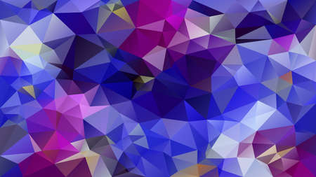 vector abstract irregular polygon background - triangle low poly pattern - color cobalt royal azure blue puprle violet mauve