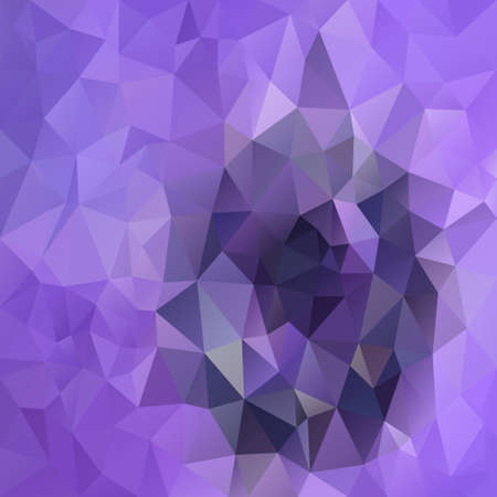 vector abstract irregular polygon square background - triangle low poly pattern - color purple violet lilac amethist orchid iris Stock Illustratie