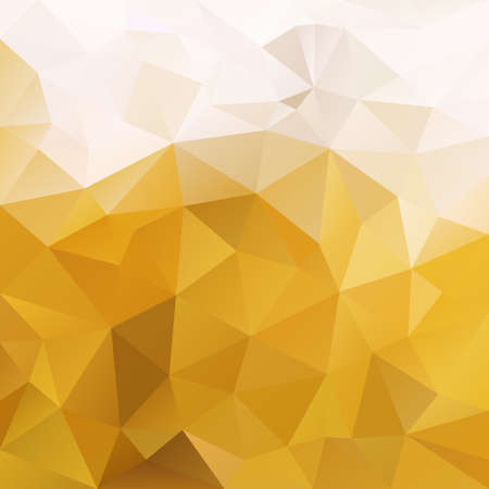 vector abstract irregular polygon square background - triangle low poly pattern - color camel ochre yellow light beige Stock Illustratie