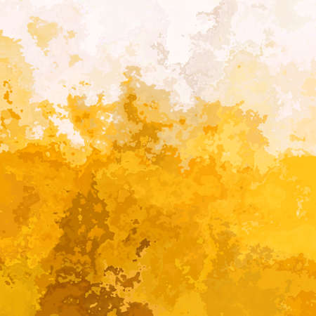abstract stained pattern texture square background gold yellow ochre beige color - modern painting art - watercolor splotch effect